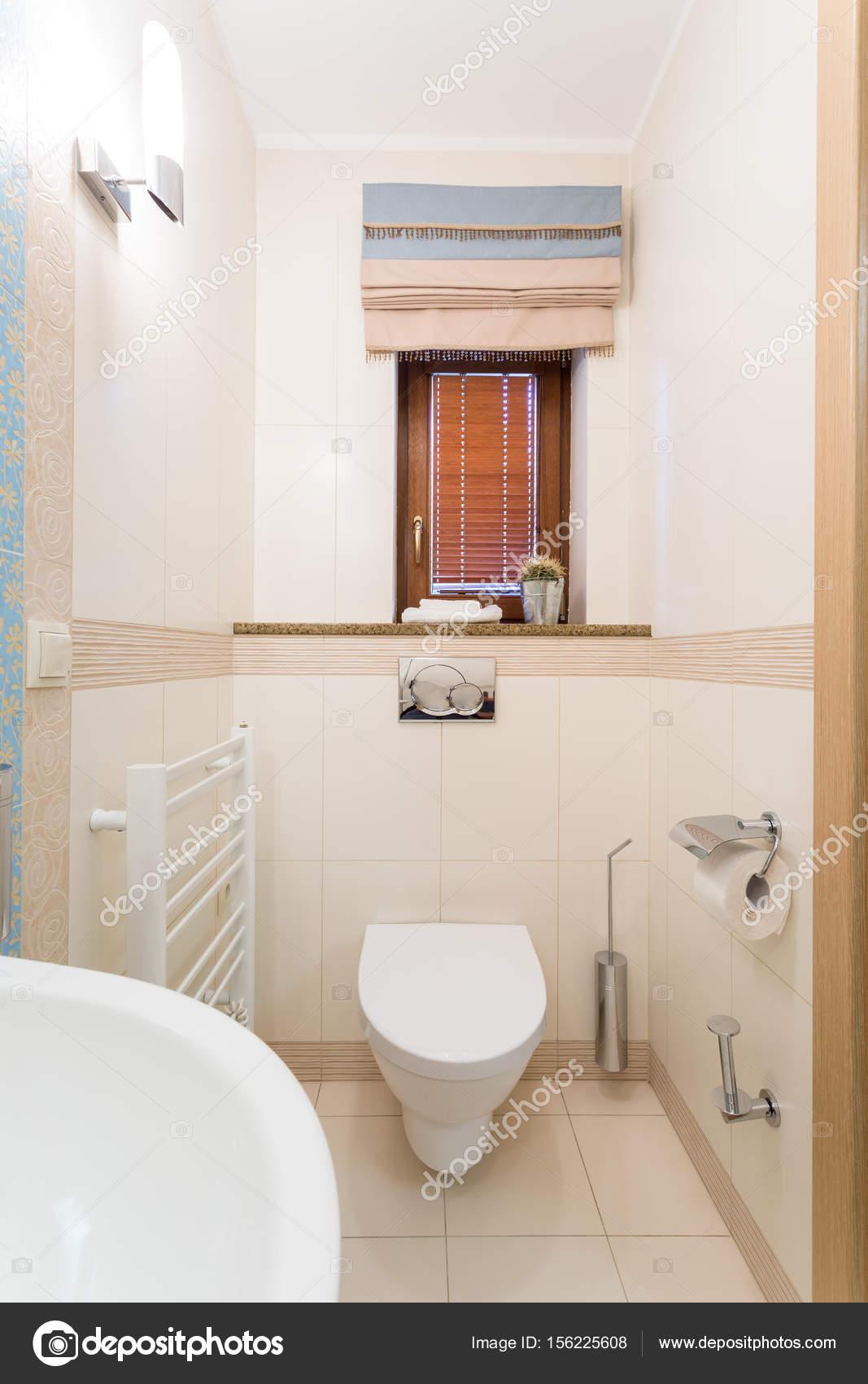Kleine funktionale Toilette mit weißem WC-Bogen — Stockfoto ...