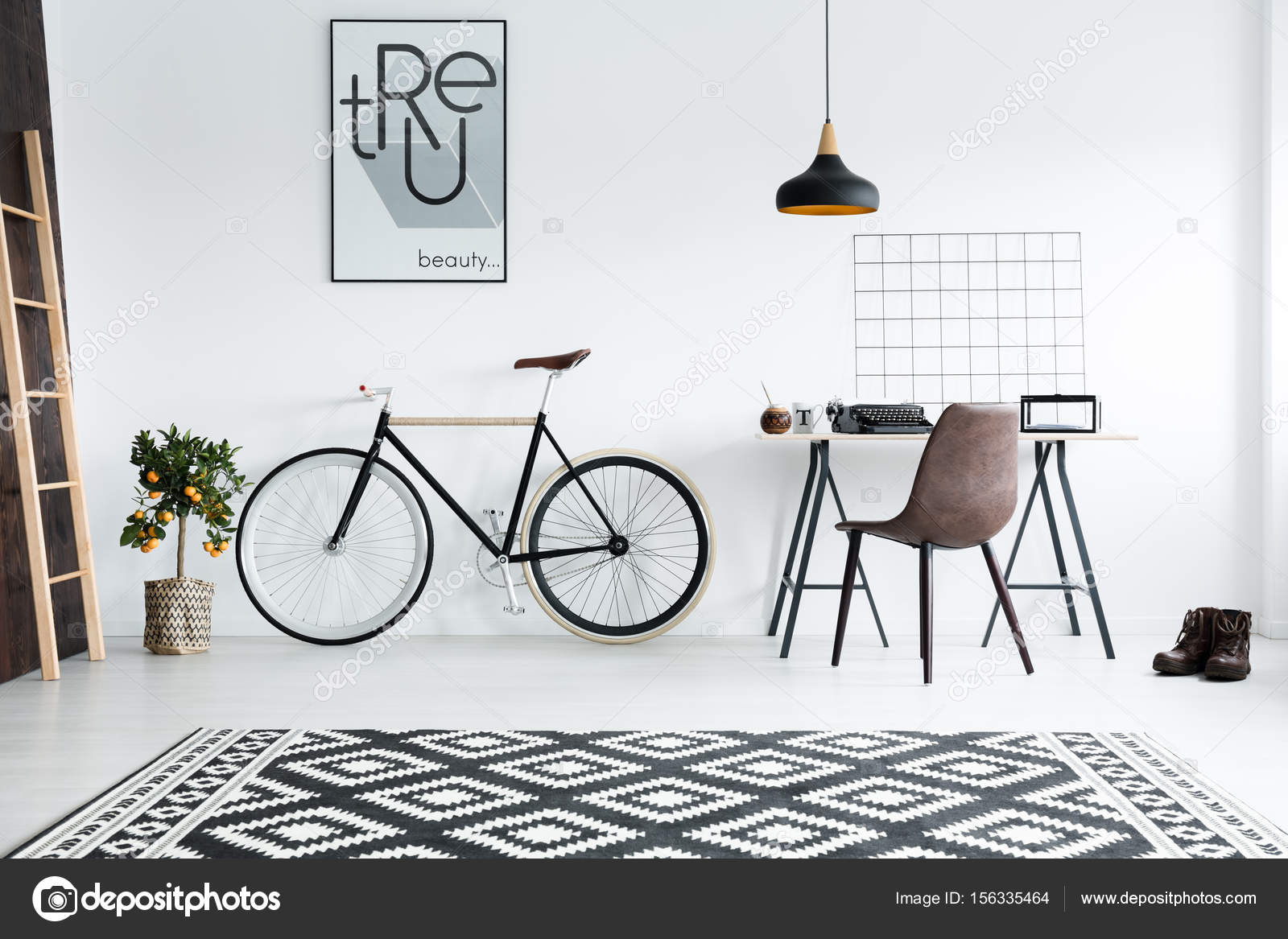 zwart-wit interieur — Stockfoto © photographee.eu #156335464