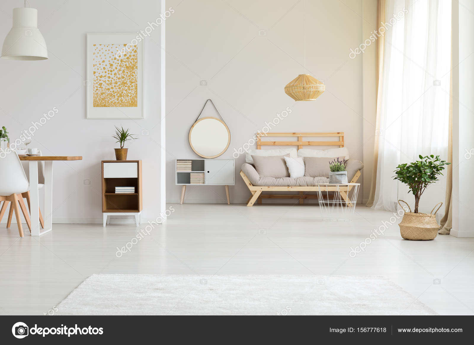 Moderne Möbel im retro-Stil — Stockfoto © photographee.eu #156777618