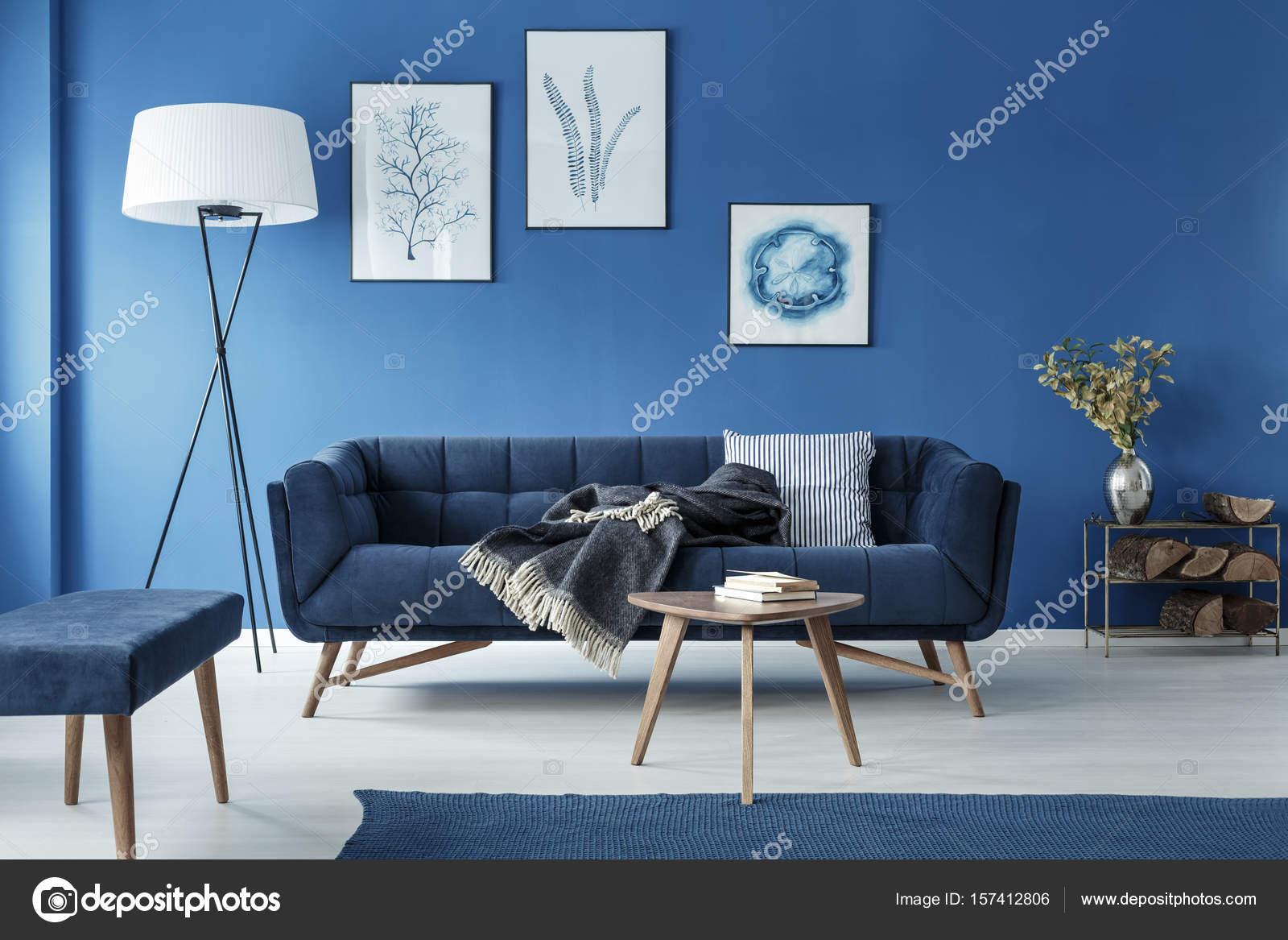 soggiorno blu — Foto Stock © photographee.eu #157412806