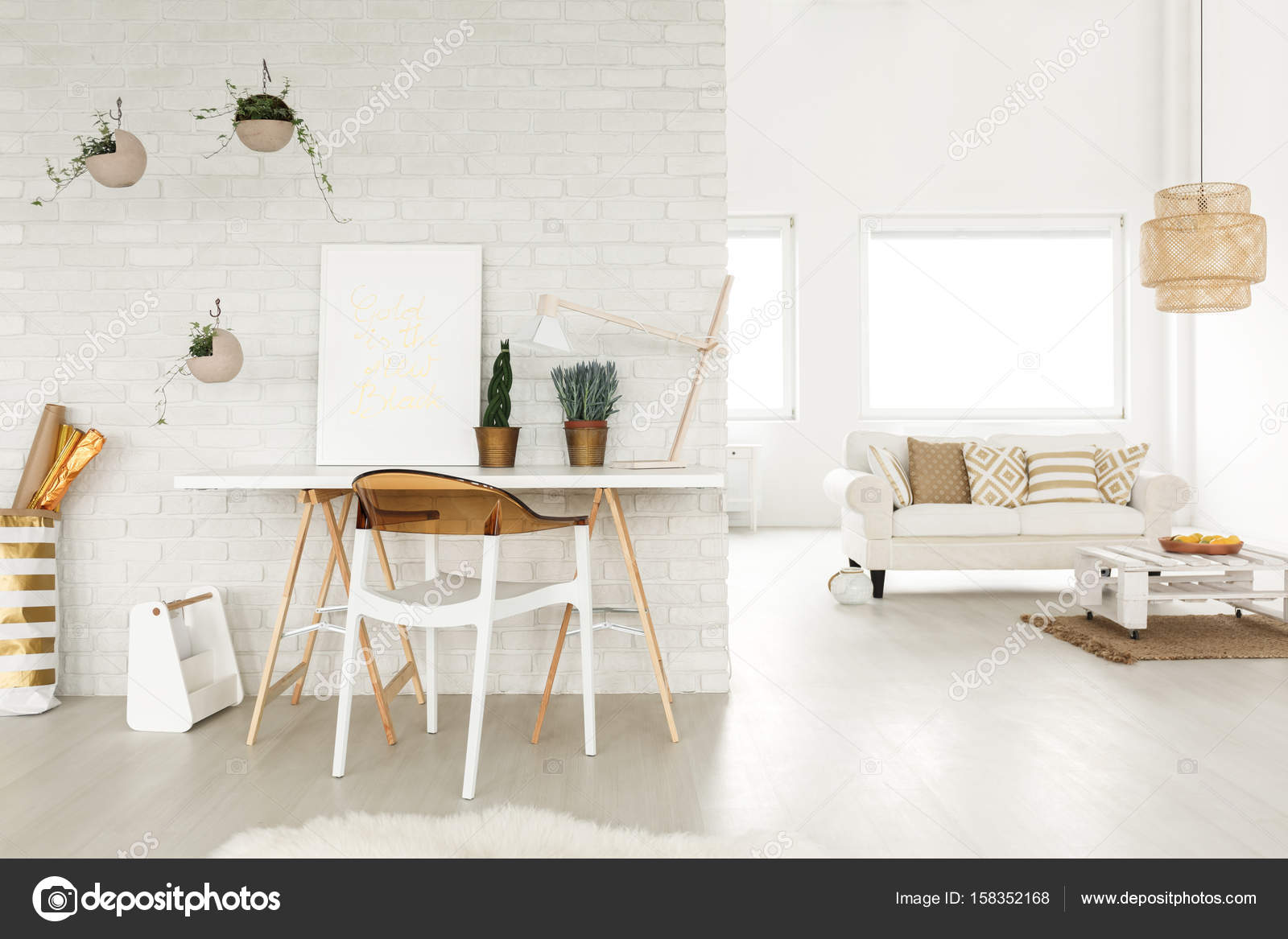 Agreable Creative Atelier In A Loftu2013 Stock Image
