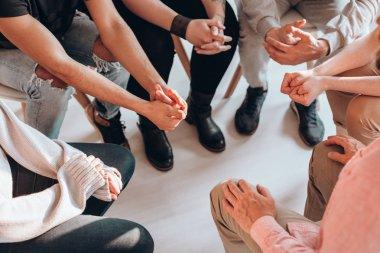 Teenagers meeting therapist
