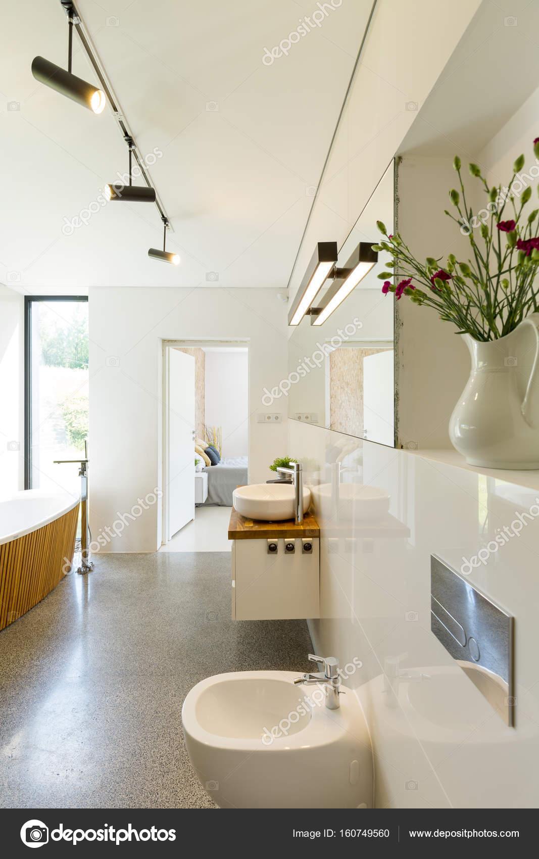 Baño completo con bañera de pie — Fotos de Stock © photographee.eu ...