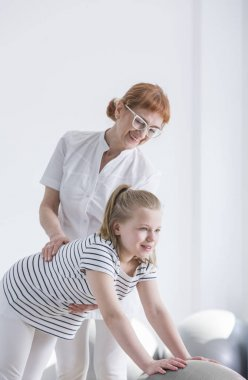 Child with spine deformity rehabilitation