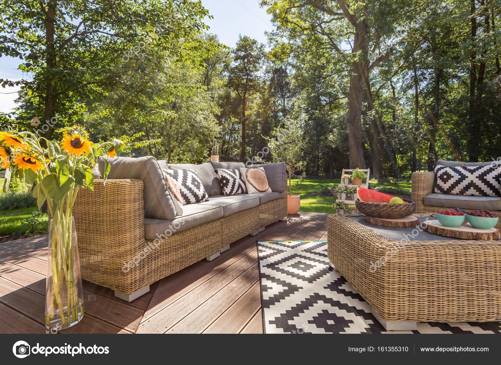Ispirazioni moderne per la progettazione di terrazza — Foto Stock ...