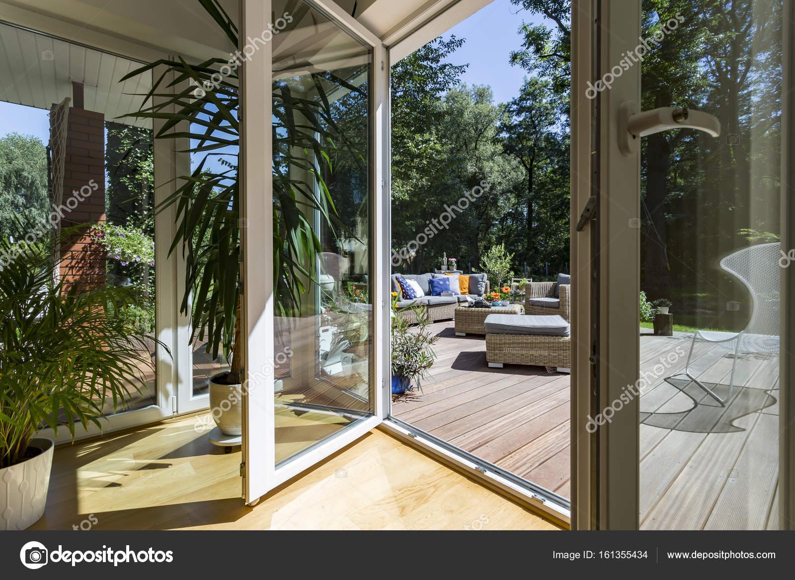 Verschiedene Haus Mit Veranda Sammlung Von Geräumigen — Stockfoto