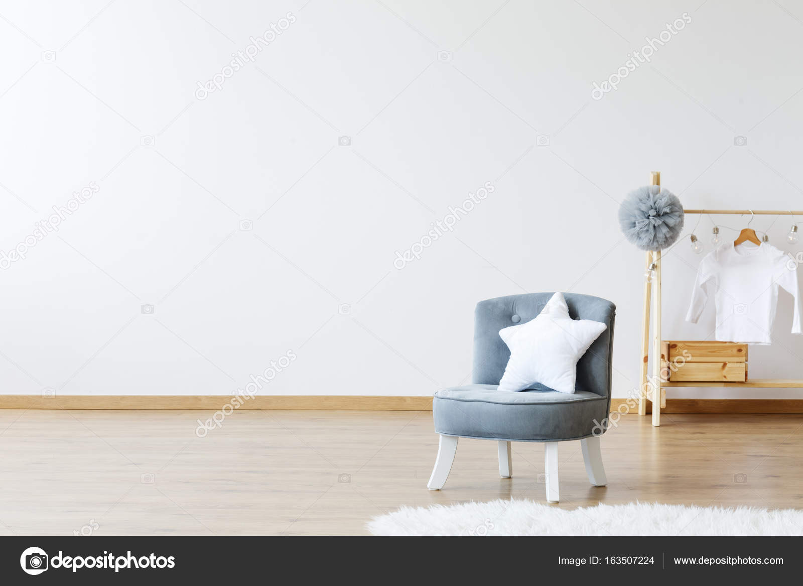 Star Shaped Pillow On Chair U2014 Stock Photo