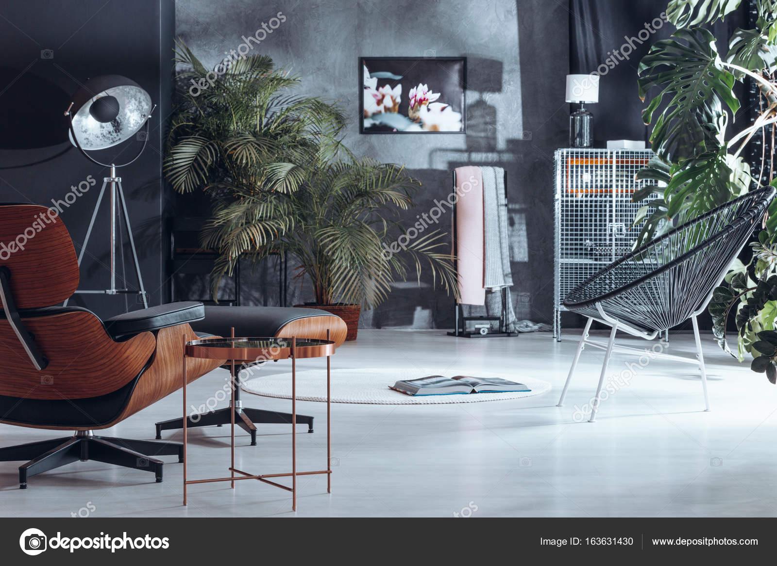 Wohnzimmer mit Pflanze Dekoration — Stockfoto © photographee ...