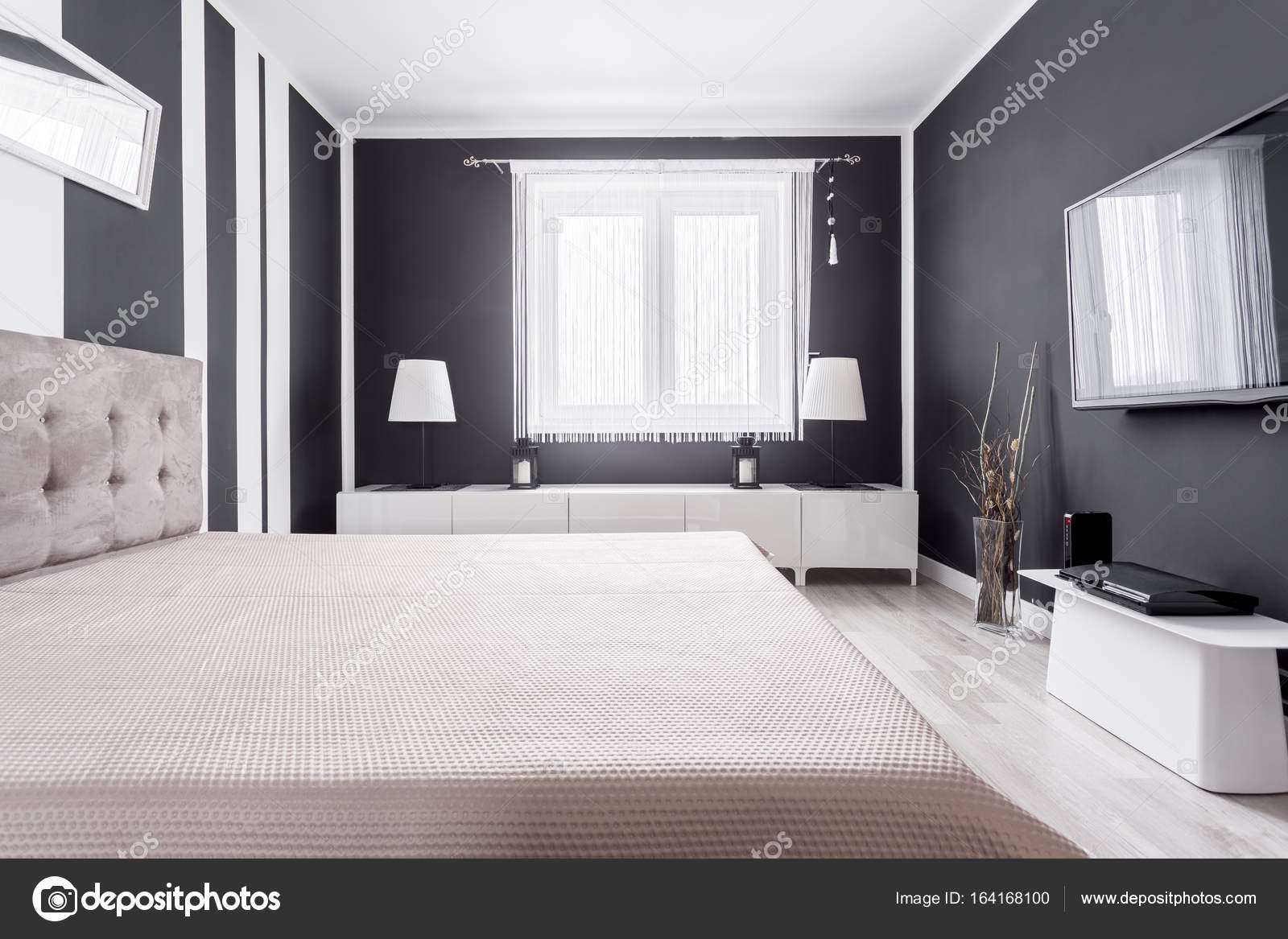 Zona in camera da letto moderna relax — Foto Stock © photographee.eu ...