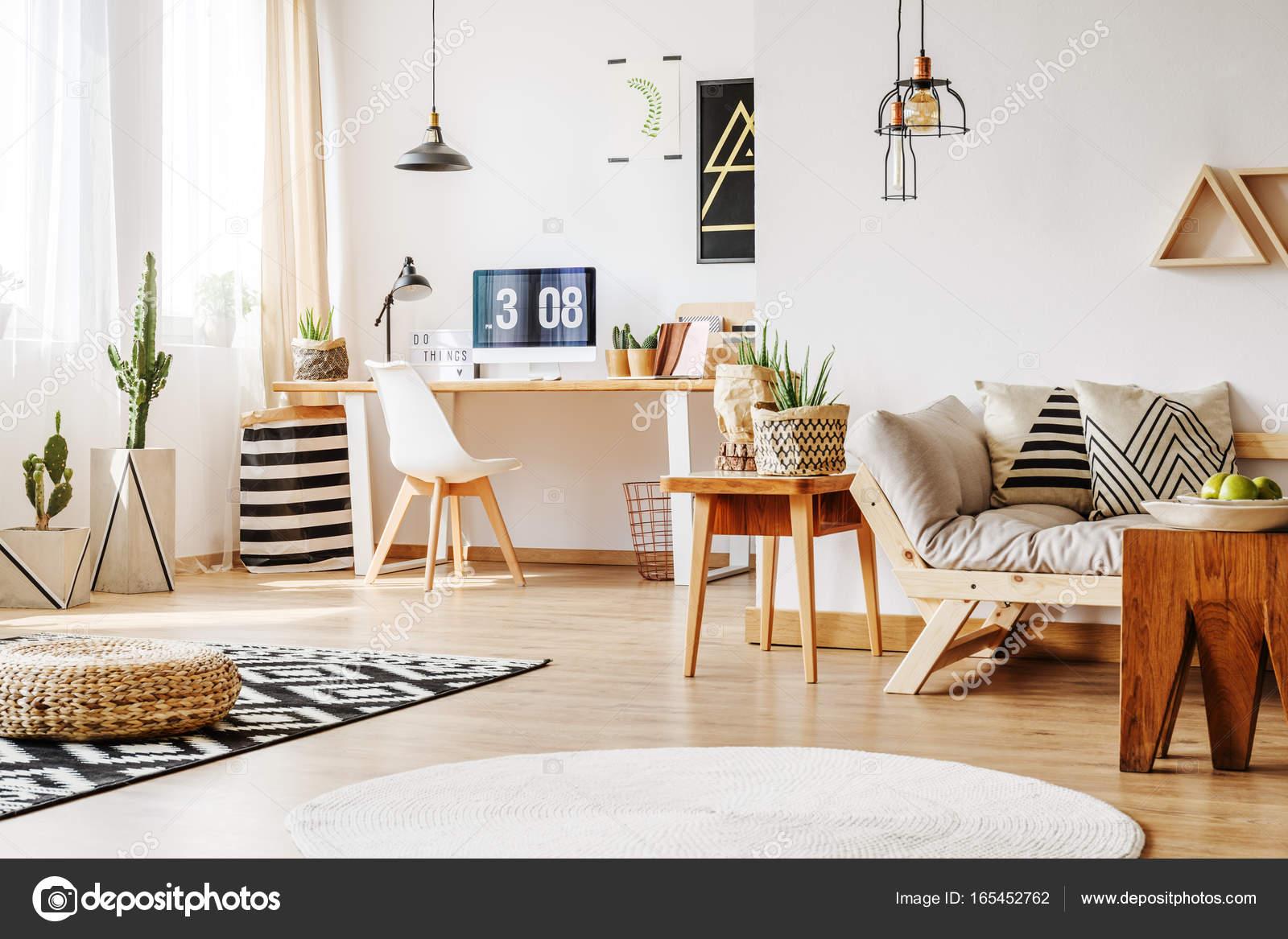 ≥ houten witte barok bureautafel met stoel antiek meubels