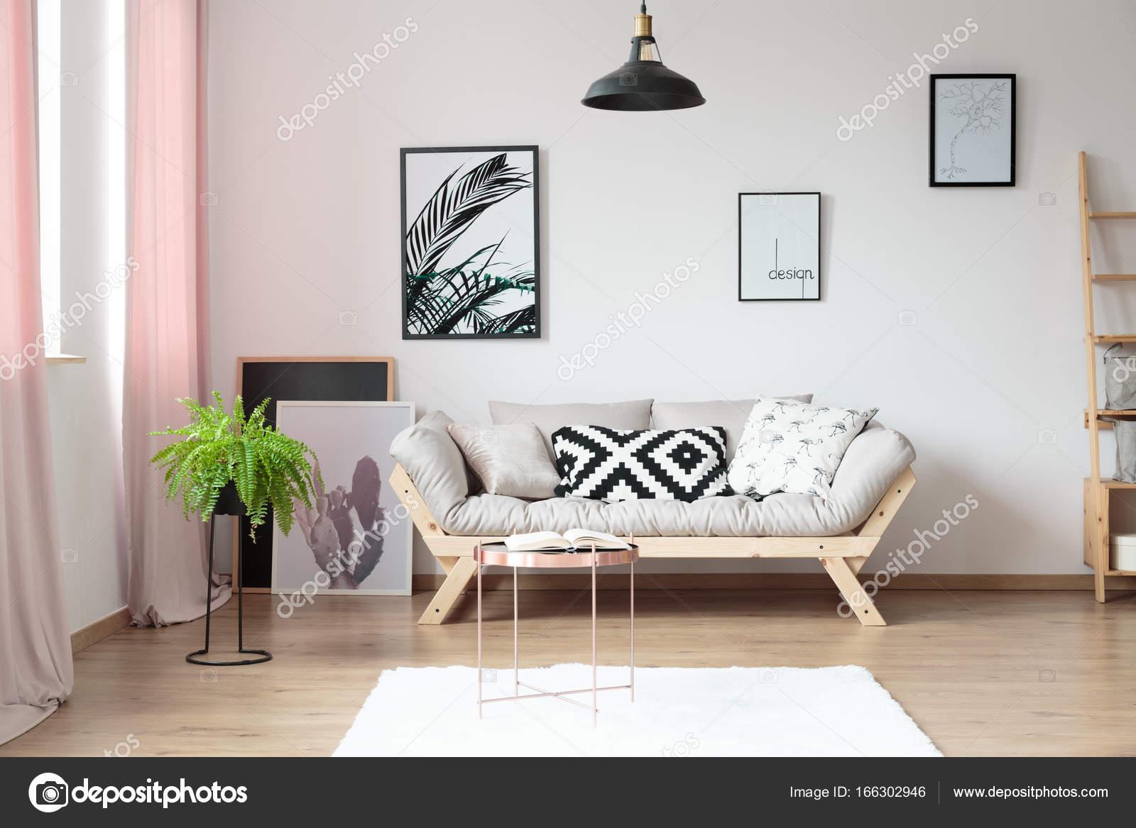 Einfache Wohnzimmer mit Farn — Stockfoto © photographee.eu #166302946