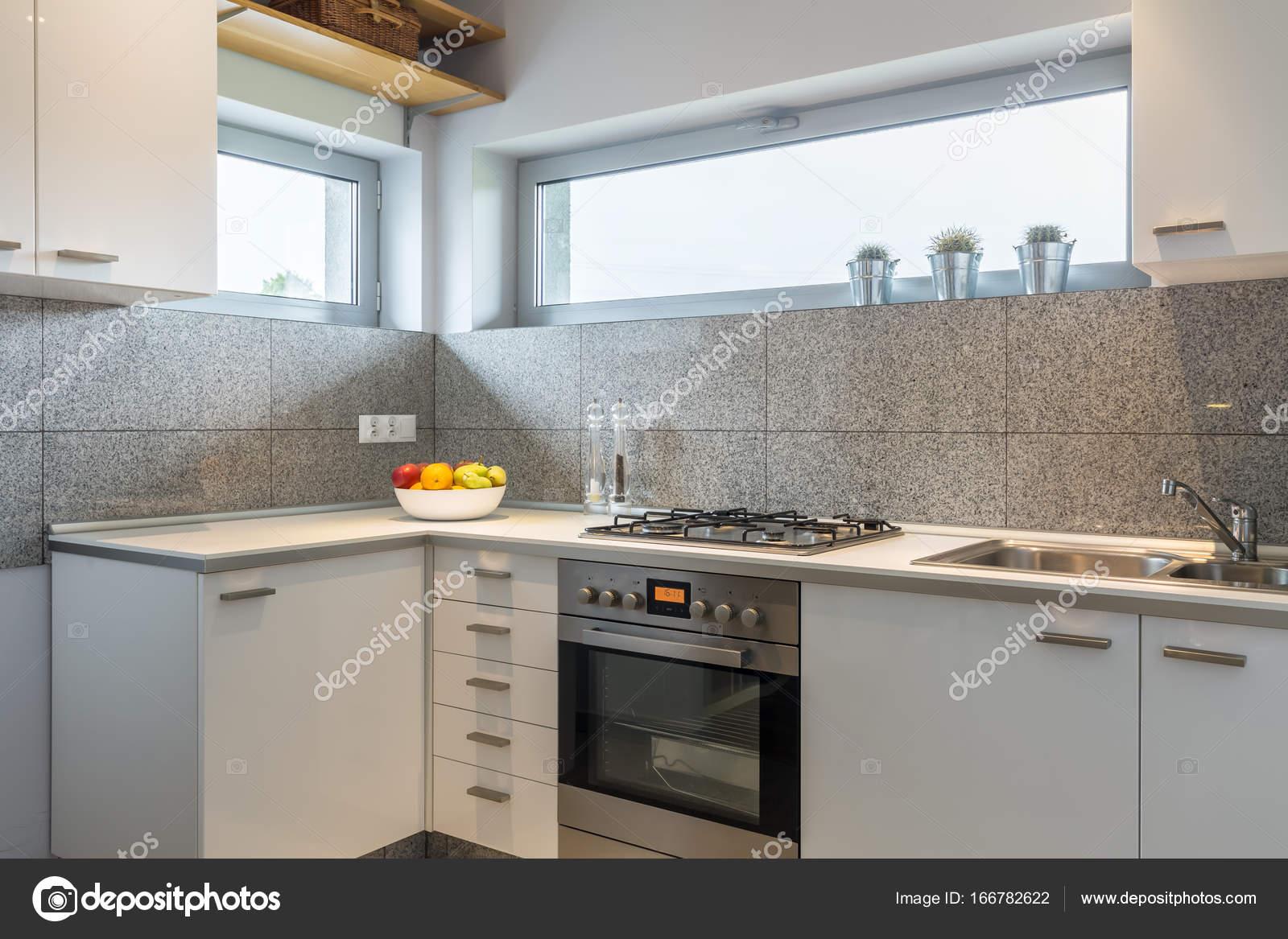 Diseño de la cocina sencilla con estilo — Fotos de Stock ...