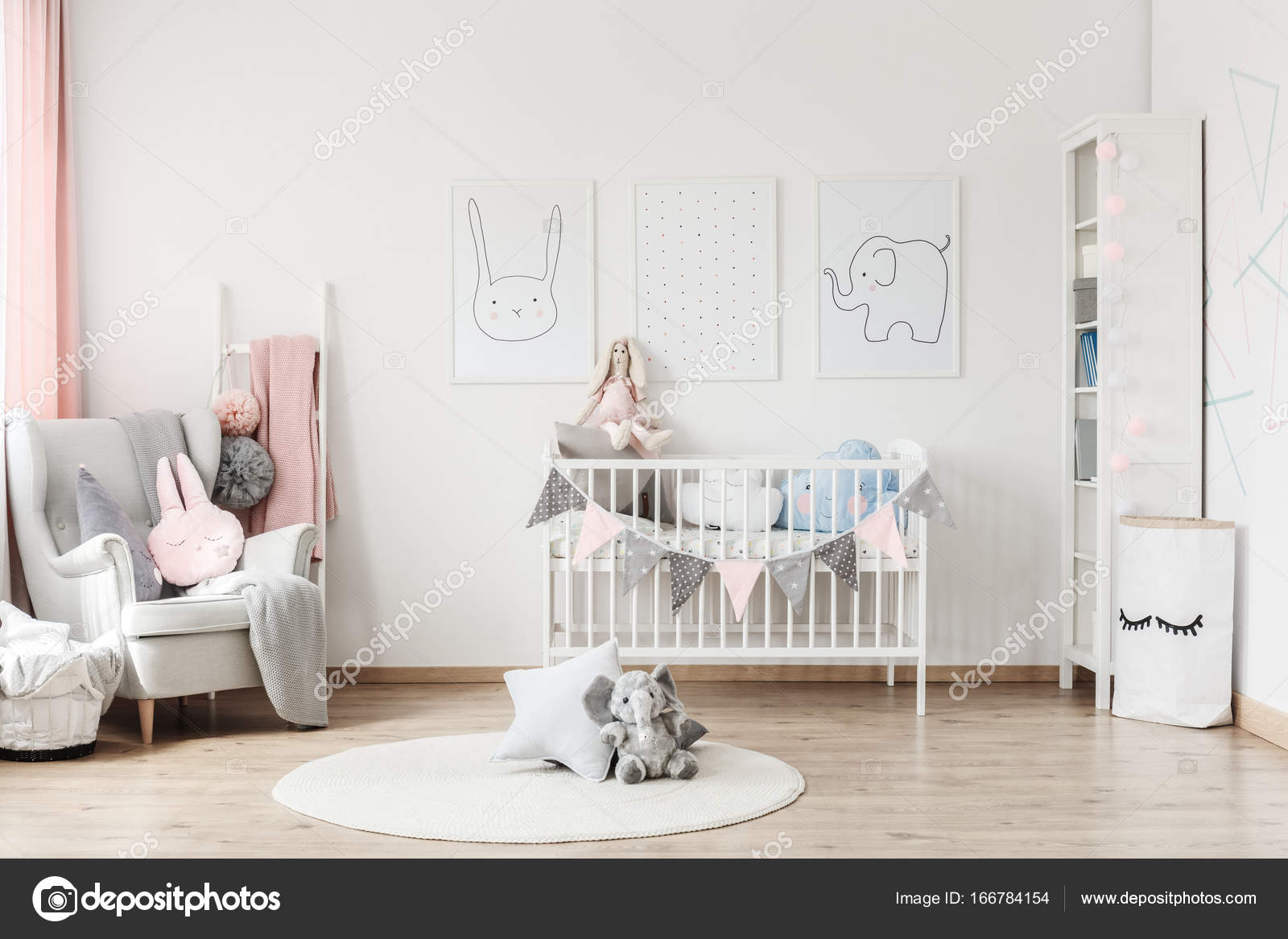 graue wand kinderzimmer wohnideen. Black Bedroom Furniture Sets. Home Design Ideas