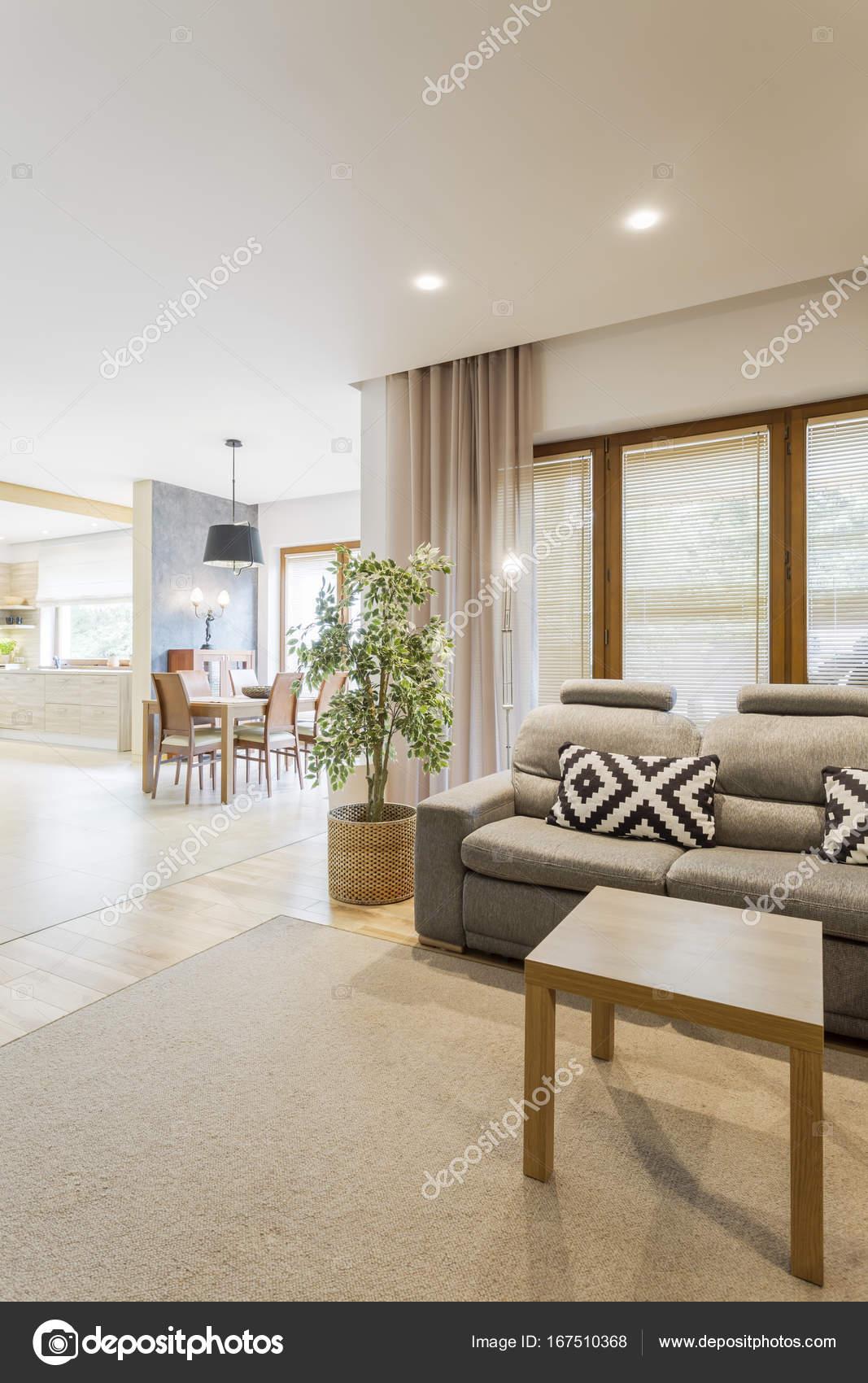 Helles Wohnzimmer mit der Küche — Stockfoto © photographee.eu #167510368