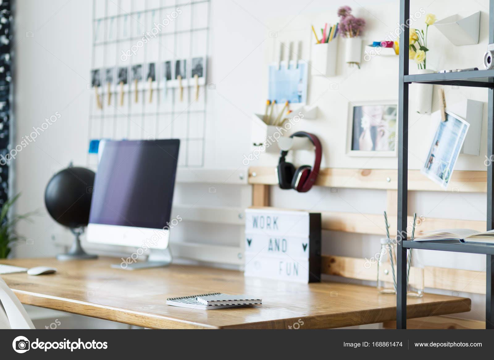 Classic home office with headphones — Stock Photo © photographee.eu ...
