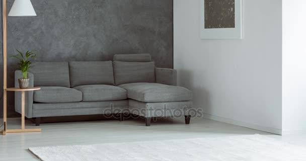 Rohová pohovka v obývacím pokoji