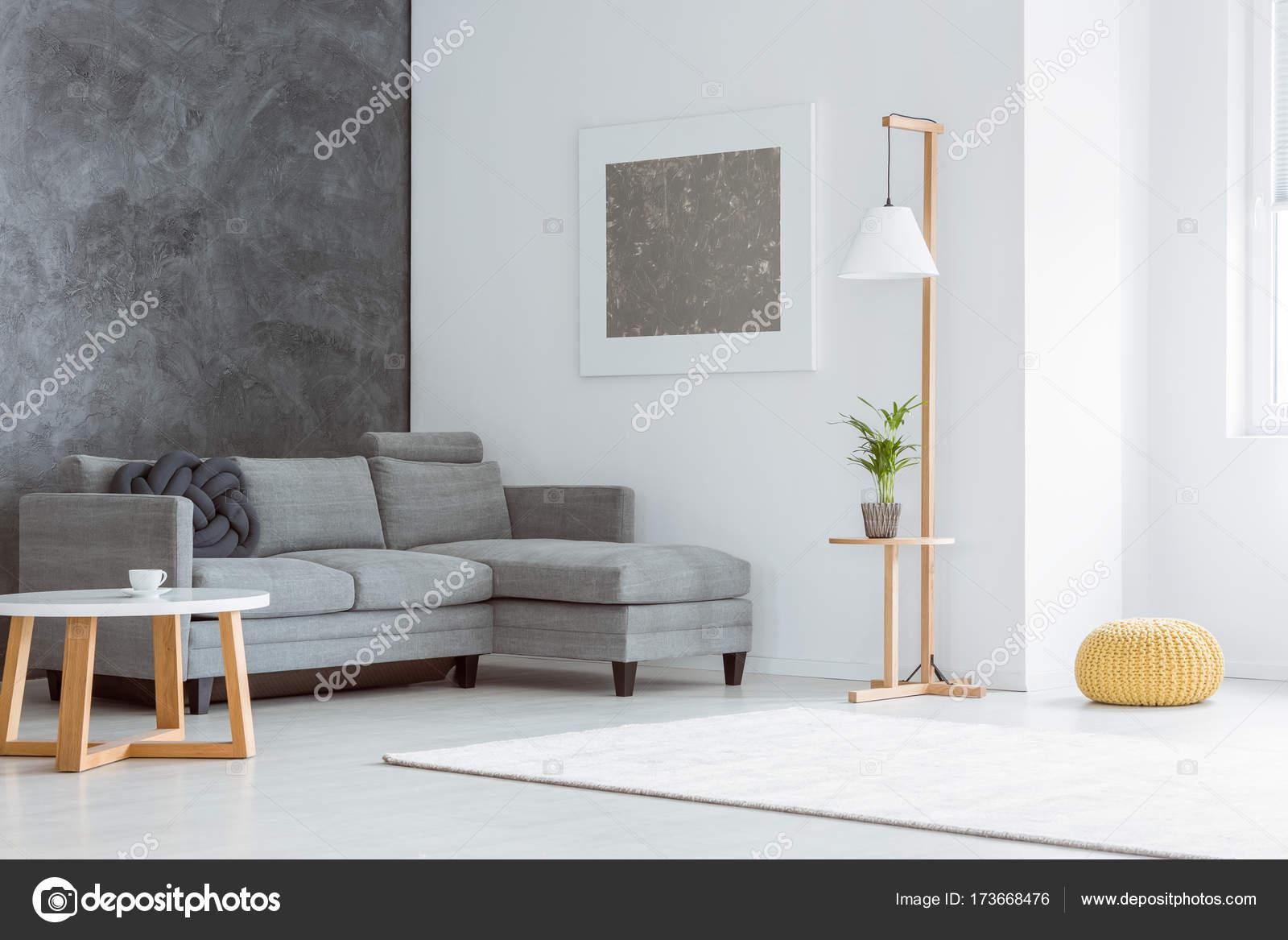 Wohnzimmer Mit Grauen Akzent U2014 Stockfoto