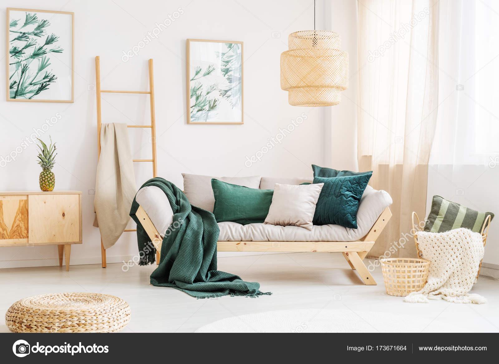 Natural living room with sofa — Stock Photo © photographee.eu #173671664