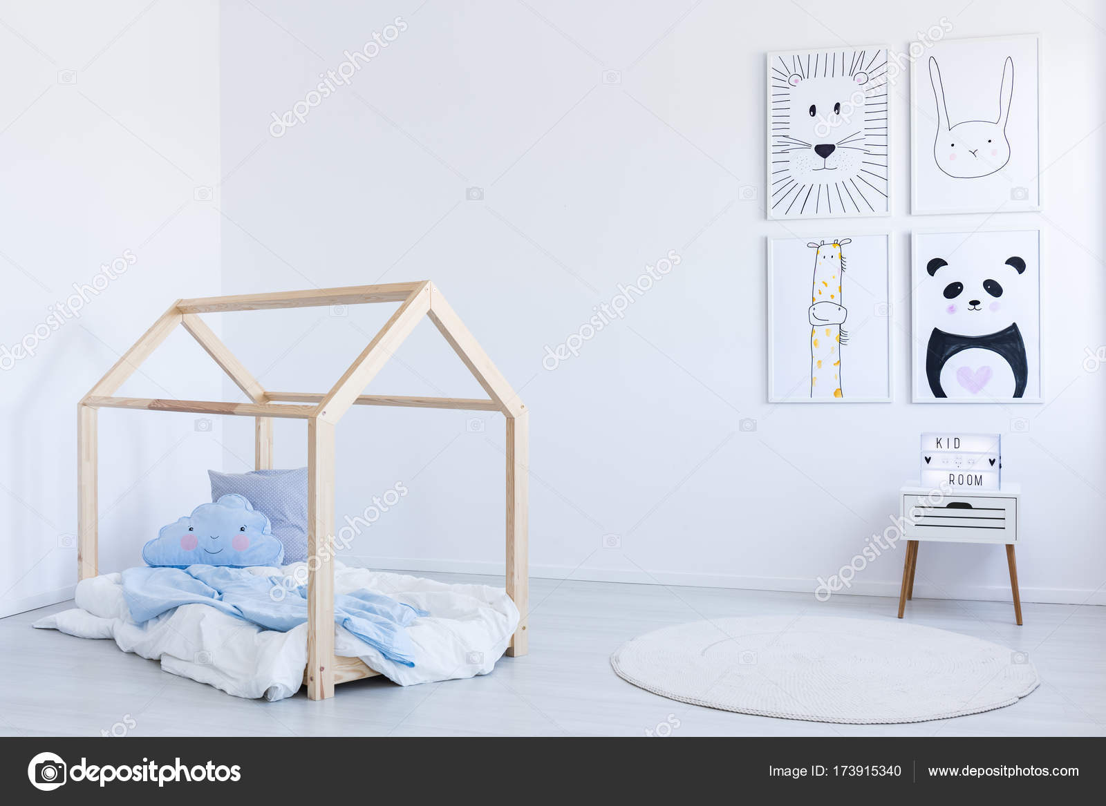 Diy bed in boy s kamer u stockfoto photographee eu