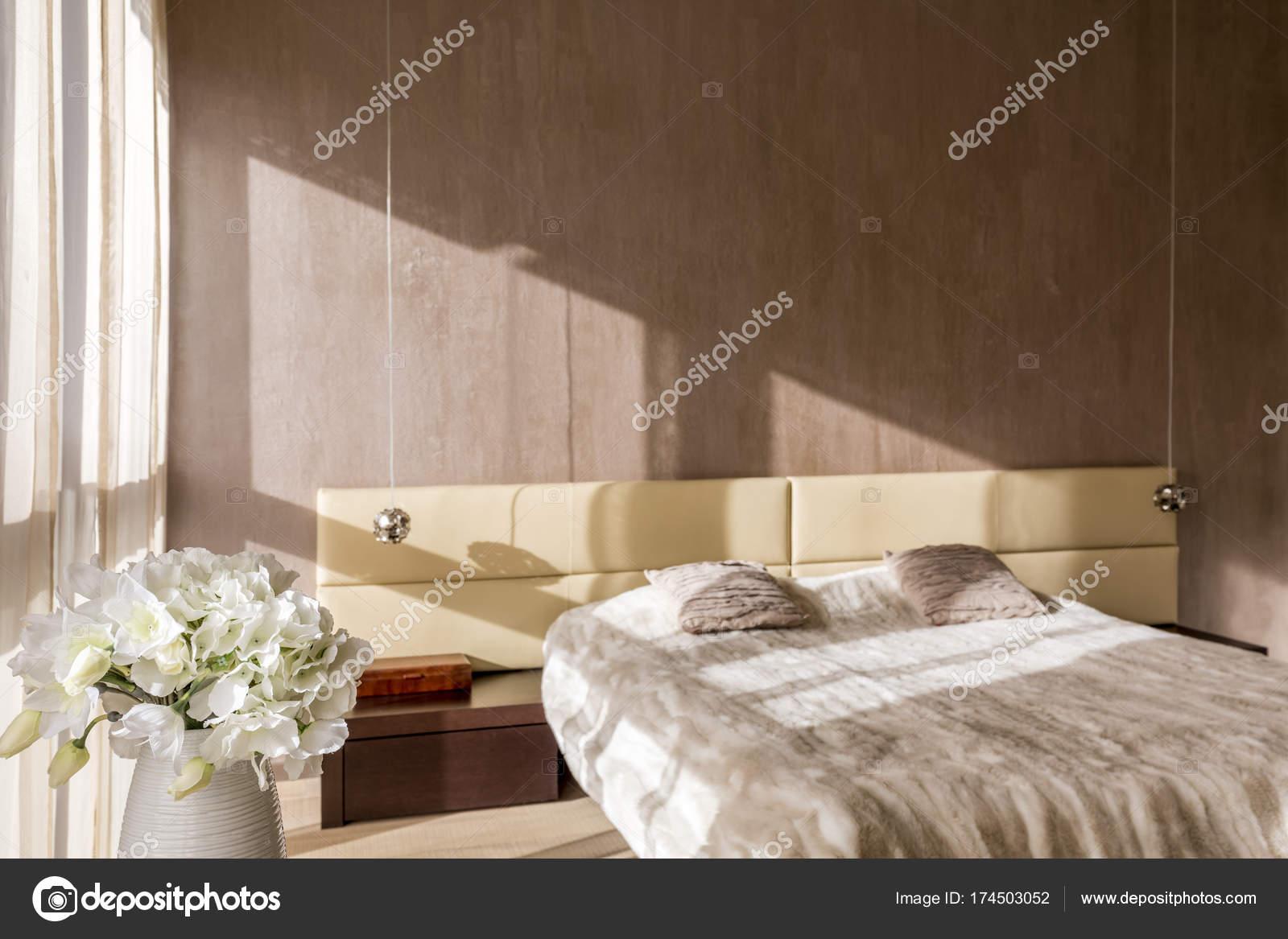 Kleur Voor Slaapkamer : Gestemde kleur slaapkamer u stockfoto photographee eu