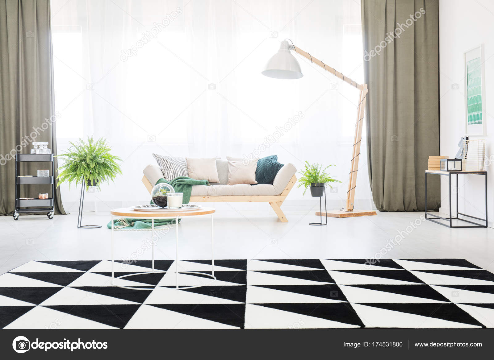 Carpet in bright living room — Stock Photo © photographee.eu #174531800