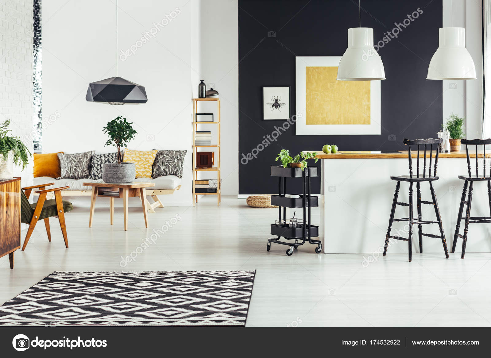 Multifunctional chic living room — Stock Photo © photographee.eu ...