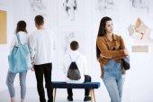 Vernisáž výstavy umění