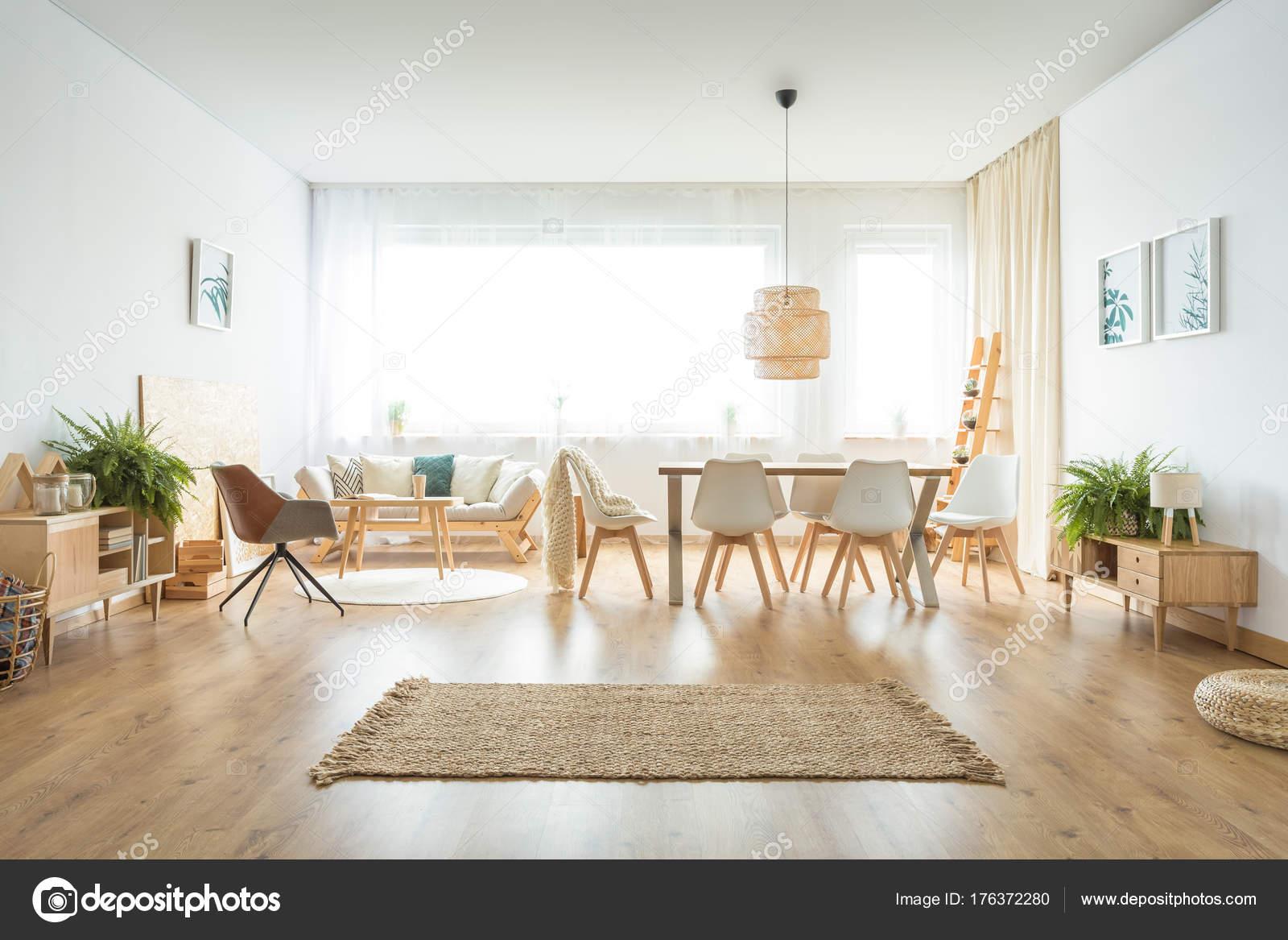 Soggiorno spazioso con tappeto u2014 foto stock © photographee.eu #176372280