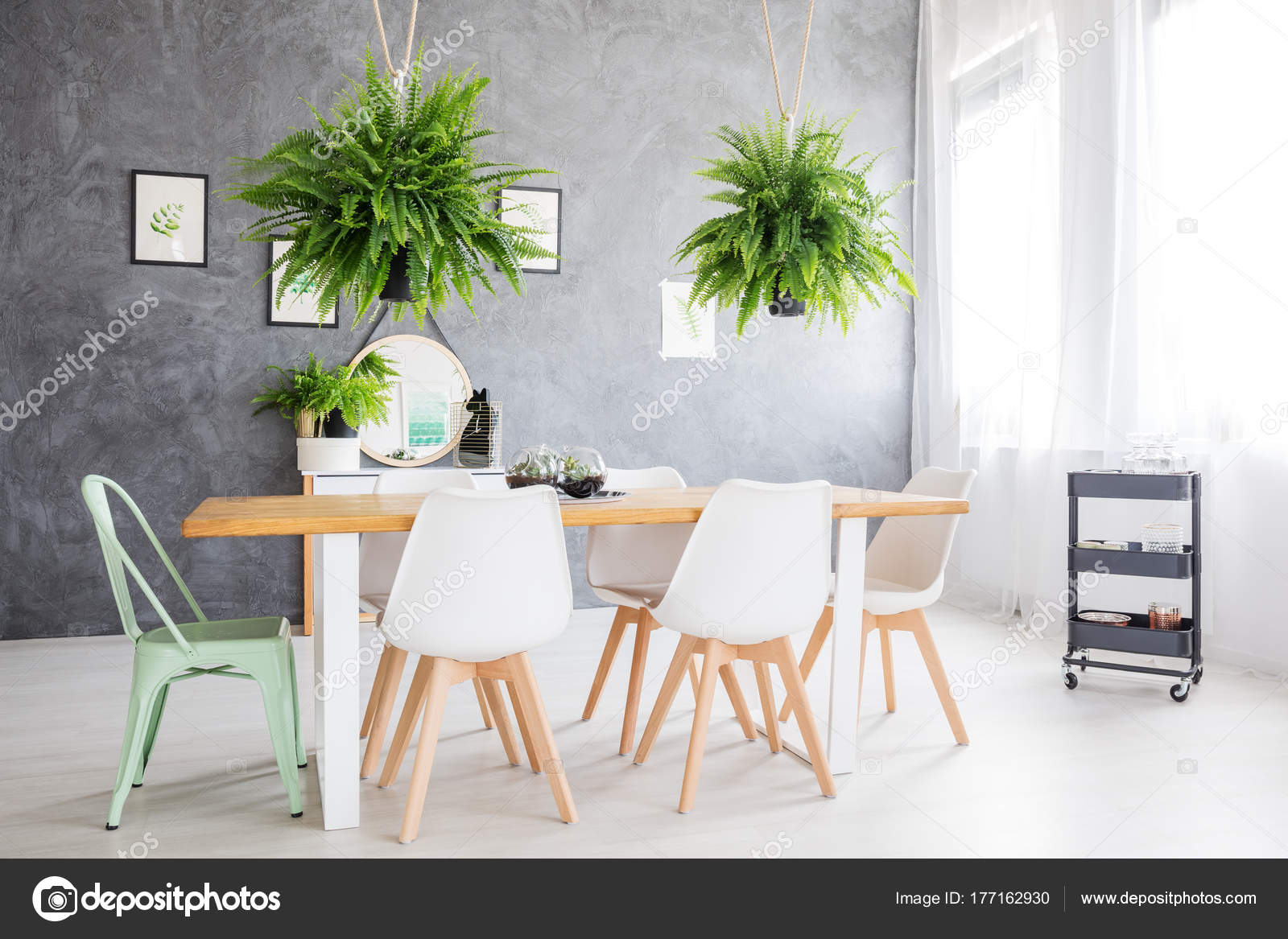 Mirror In A Dining Room Stock Photo Image By Photographee Eu 177162930