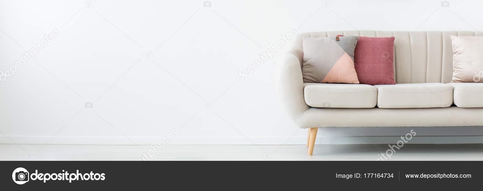 Sofa In Empty Living Room Stock Photo