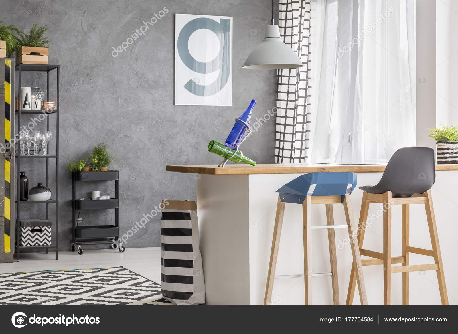 Küche mit Poster und Hocker — Stockfoto © photographee.eu ...