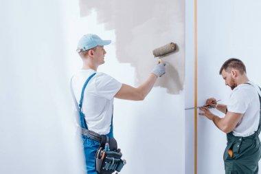 Painter finishing interior