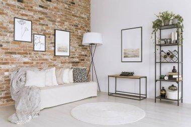White sofa in living room