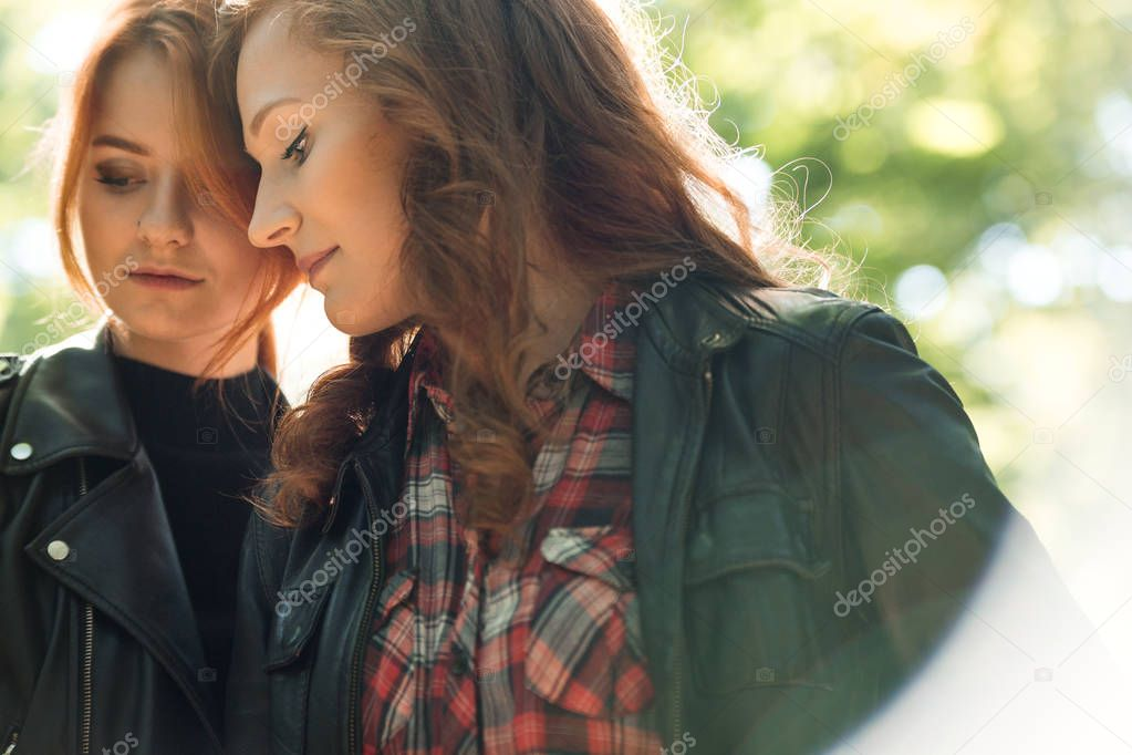 Intimacy between young lesbian girls — Stock Photo