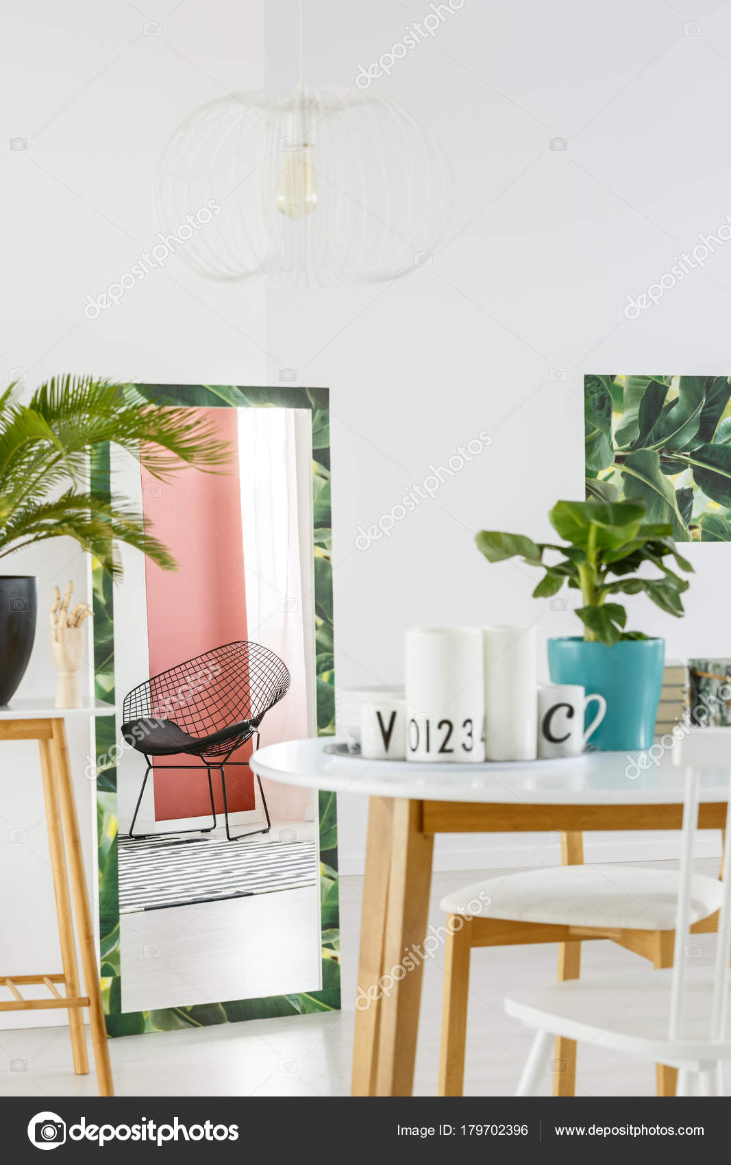 Green Dining Room With Mirror Stock Photo C Photographee Eu 179702396