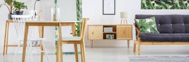 Rustic cupboard in living room
