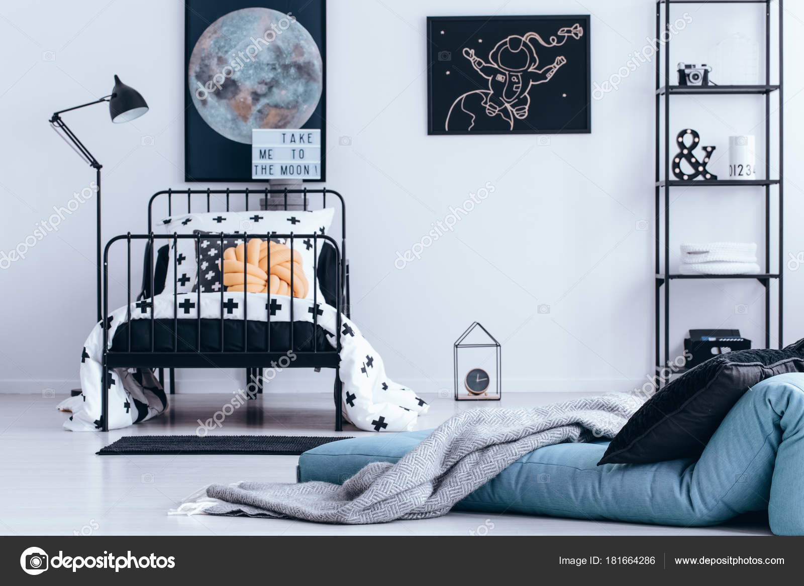 Astronaut Plakat Im Jugendzimmer U2014 Stockfoto
