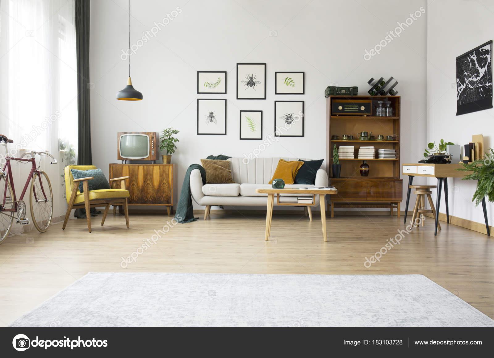 Vintage-Möbel im Wohnzimmer — Stockfoto © photographee.eu #183103728