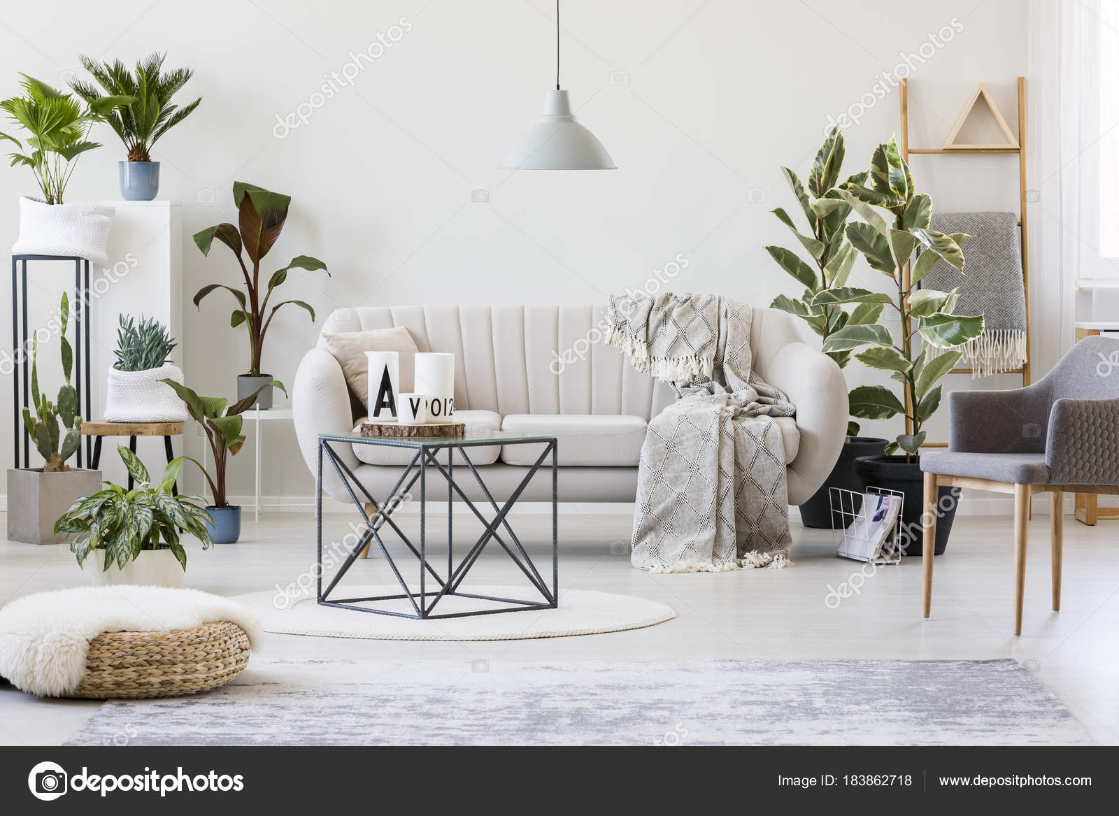 Plants in botanic living room — Stock Photo © photographee.eu #183862718