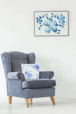 Armchair in bright living room