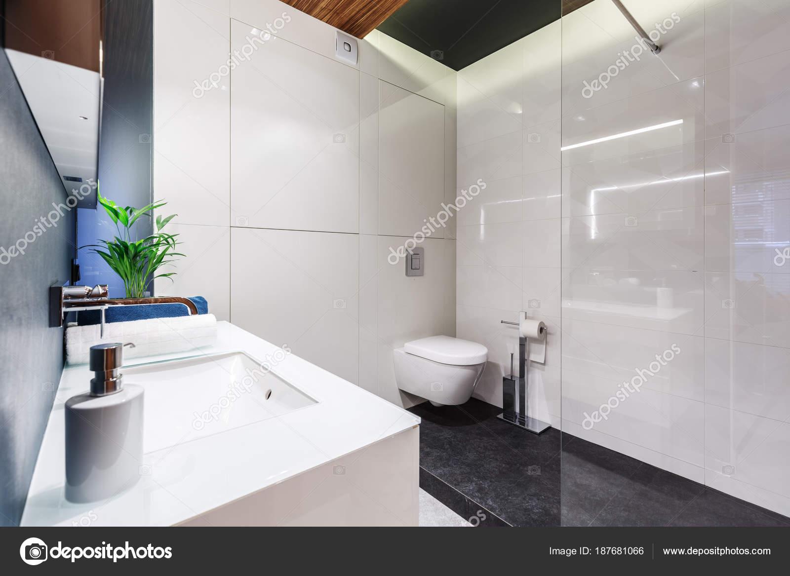 Moderne Witte Badkamer : Moderne witte badkamer interieur u2014 stockfoto © photographee.eu