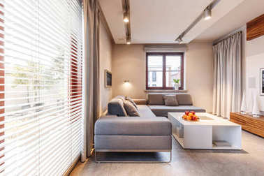 Lights in beige living room