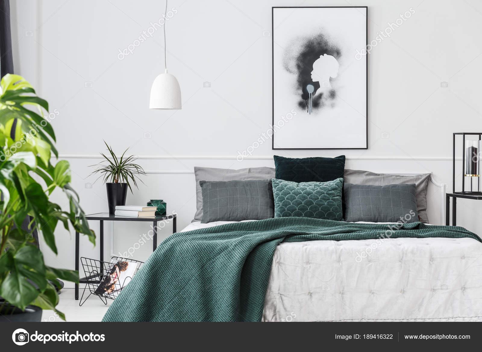 Interieur Elegant Chambre Vert Emeraude Photographie