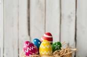 Fotografie Cute painted eggs