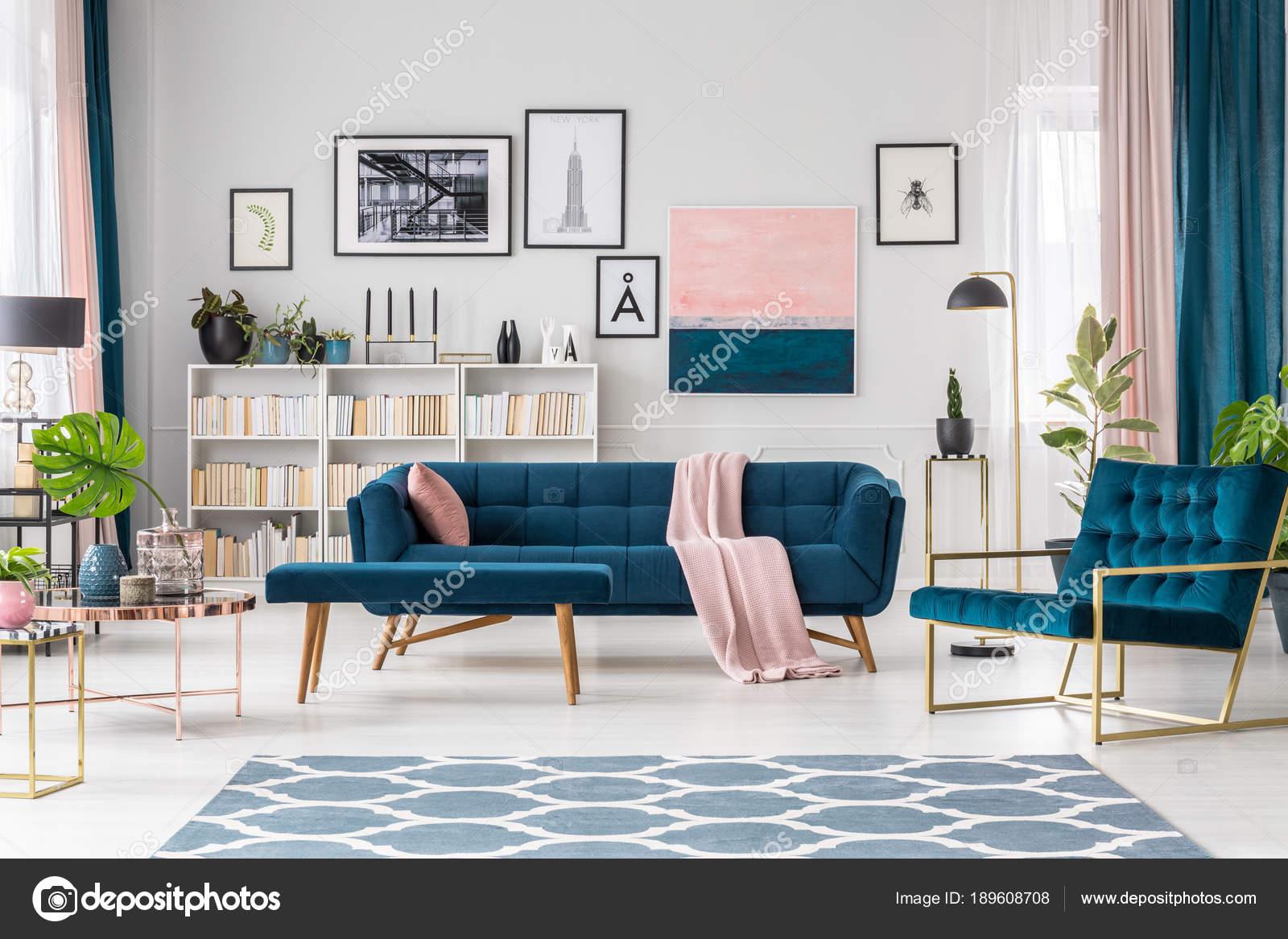 soggiorno blu — Foto Stock © photographee.eu #189608708
