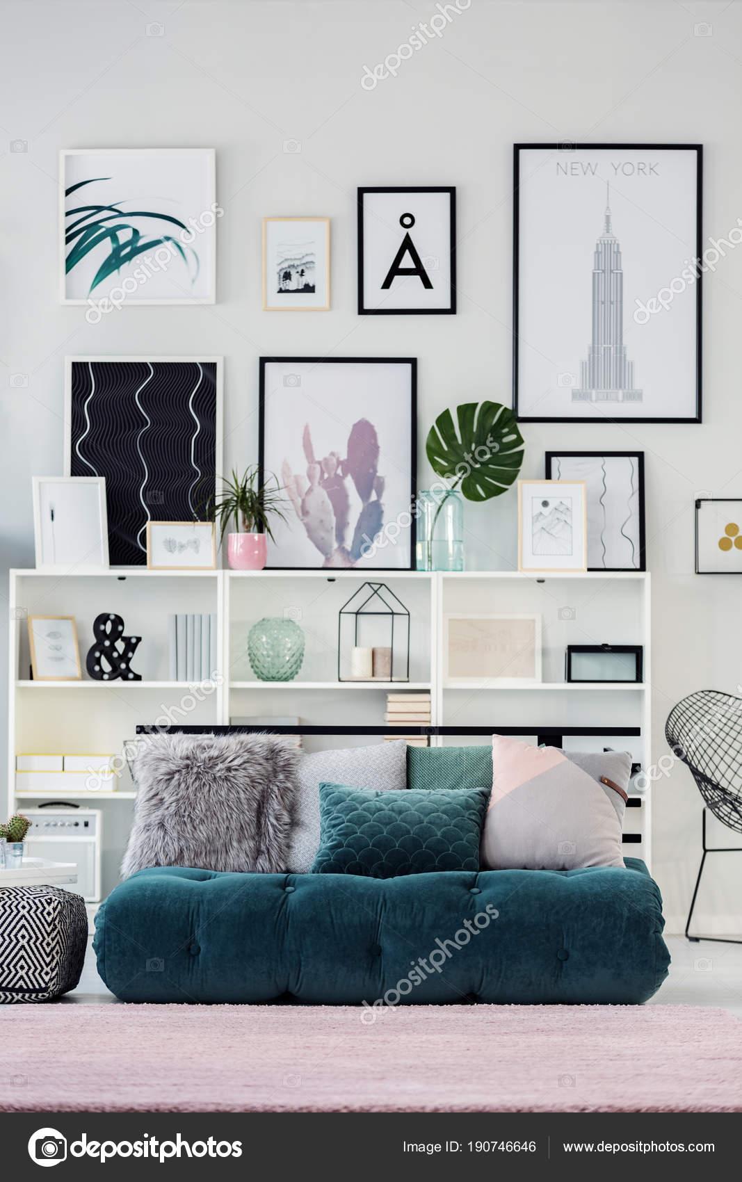 Interieur De Chambre Vert Emeraude Photographie