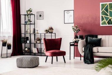 Pouf, armchair and sofa