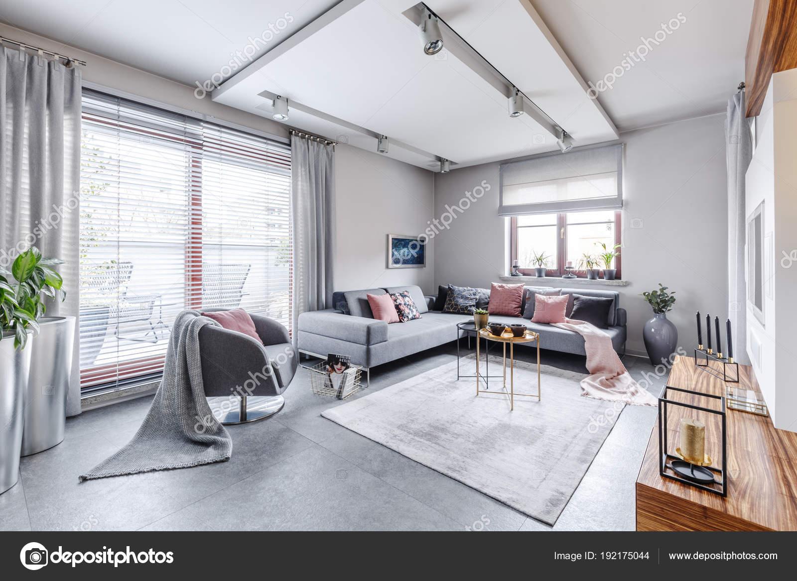 Bright gray movie room — Stock Photo © photographee.eu #192175044