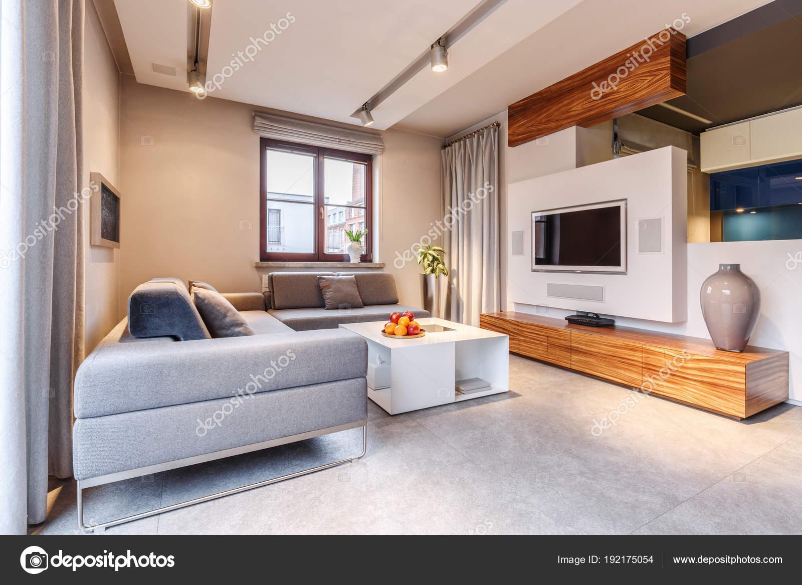 gezellige warme woonkamer — Stockfoto © photographee.eu #192175054