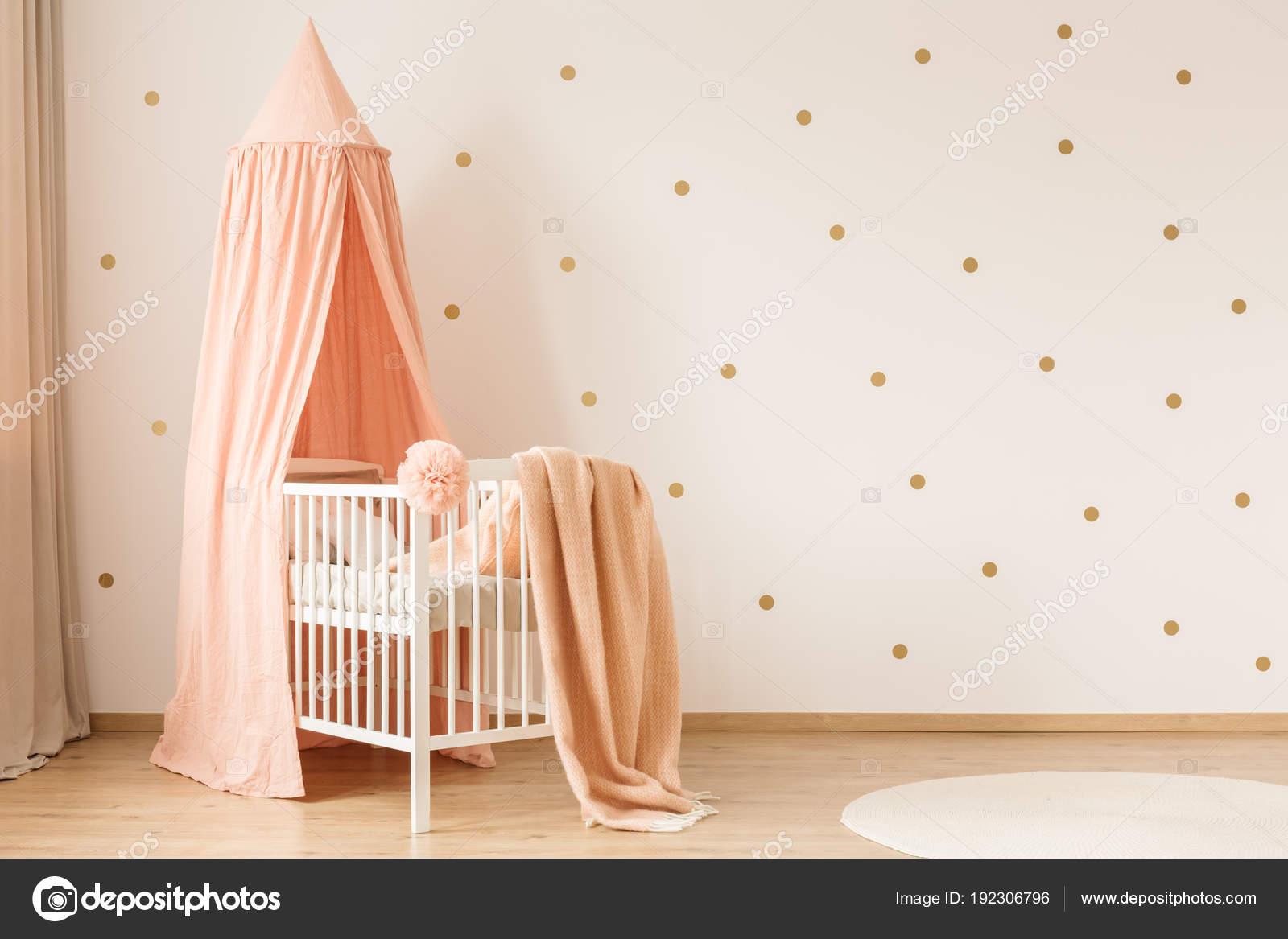 Gold Und Rosa Kinderzimmer Schlafzimmer U2014 Stockfoto